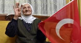 105 yaşındaki Fikriye ninenin Cumhurbaşkanı Erdoğan'la görüşme sevinci