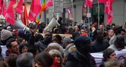 Floransa'da bir siyahinin öldürülmesi protesto edildi