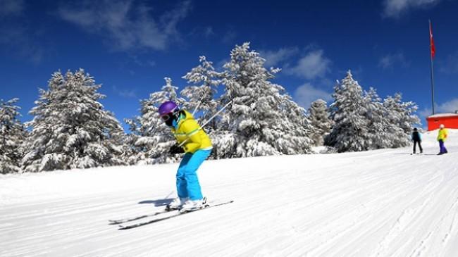 Kars Cıbıltepe'de Mart ayında kayak