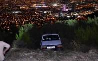 İzmir'de, otomobilini uçuruma süren kişi için arama- kurtarma çalışması başlatıldı